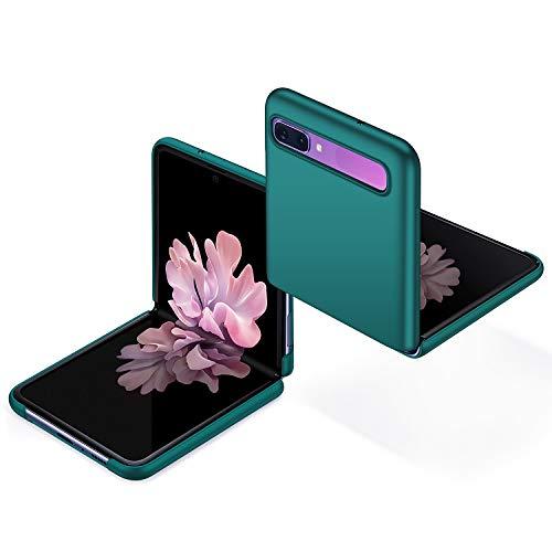 anccer Kompatibel mit Samsung Galaxy Z Flip Hülle [Serie Matte] Elastische Schockabsorption & Ultra dünnes Handyhülle Design für Samsung Galaxy Z Flip (Grün)