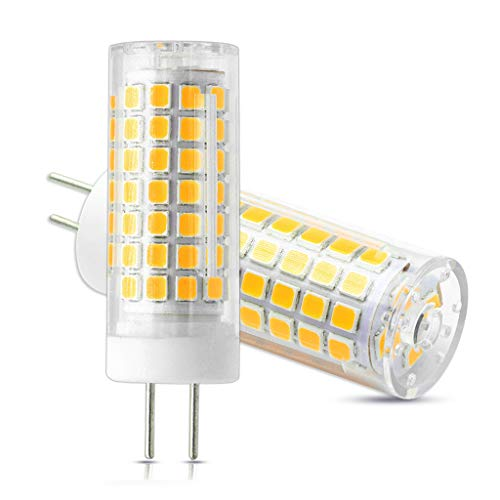 VWV GY6.35 LED Light Bulbs 750 Lumens, 7W (75W Halogen Equivalent), AC 110V~265V Voltage is Applicable,Not-Dimmable Warm White 3000K (Pack of 2)