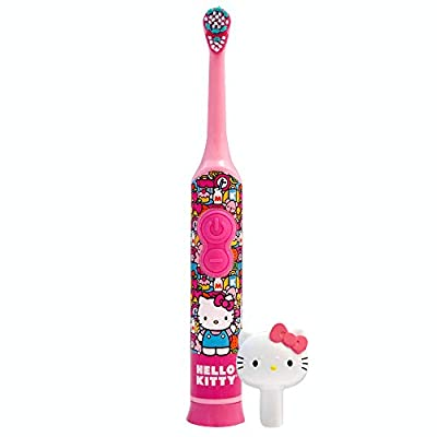 Firefly Power Protect Battery Toothbrush with Antibacterial Character Cap - Hello Kitty