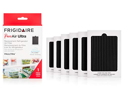 Frigidaire PAULTRA Pure Air Ultra Refrigerator Air Filter with Carbon Technology to Absorb Food Odors, 6.5' x 4.75', 6 Count