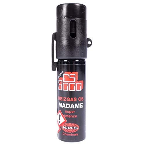CS 3000 Madame CS-Spray 18ml Abwehrspray mit 10{fac6185ca98807908749a38256388d03a3aa960e3f32e7cf7ad41888247adb2c} OC