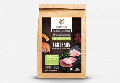 Wildfang® Karma dla psów sucha – 12 kg – karma dla psów bez zboża, indyk z ziemniakiem słodkim i borówką | idealny dla starszych psów