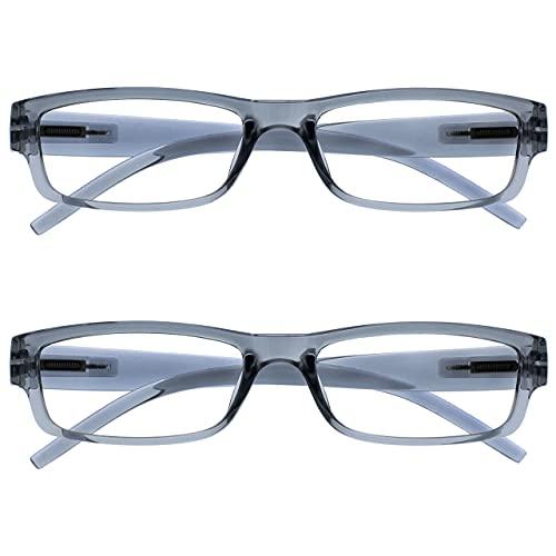 The Reading Glasses Company Gafas De Lectura Gris Ligero Cómodo Lectores Valor Pack 2 Hombres Mujeres Rr32-7 +1,50 2 Unidades 58 g