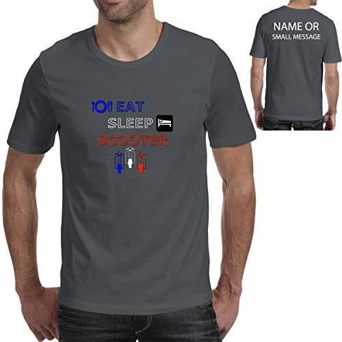 MGEAR Eet slaap Scooter T shirt T-shirt op maat tekst gedrukt tee verjaardagscadeau