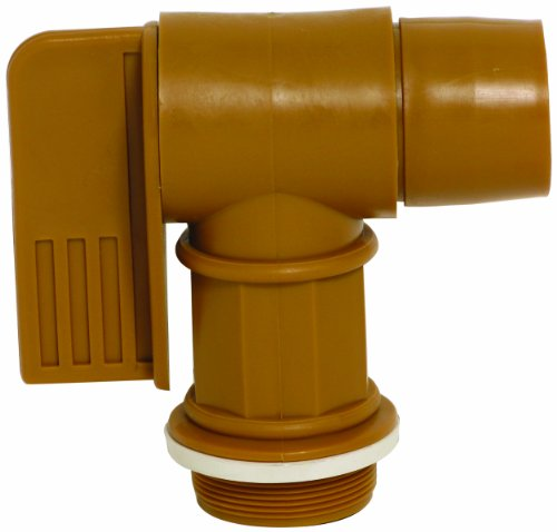 Wesco 272176 Polyethylene Drum Faucet with EPDM Gasket, 2