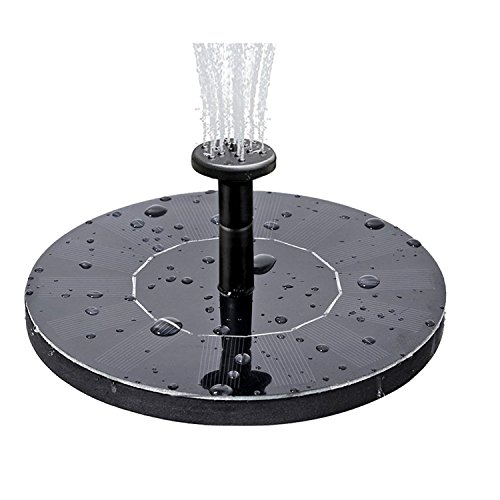 COSSCCI Solar Fountain Water Pump for Bird Bath, Submersible Solar Panel kit Pond Pumps for Small Pond Patio Garden Outdoor (1.4W)