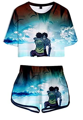 Hifoda Camiseta y Pantalones Cortos 3D para Mujer One Peice Conjuntos de...