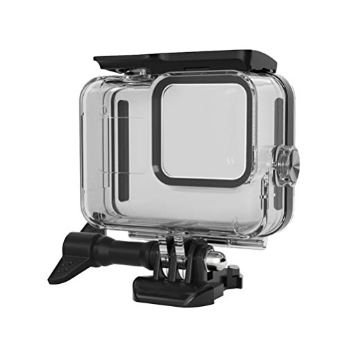 Solustre Waterproof Housing Case Underwater Camera Housing Shell Action Camera Case Compatible for GoPro HERO8 (Black)