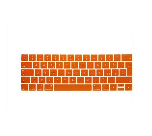 Euro/UK Italian Silicone Keyboard Cover Skin For New For MacBook Pro 13' A1706 A1989 and Pro 15' A1707 With Touch Bar A1990 A2159-Orange-