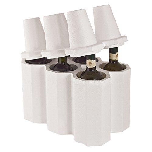 Titaly  Botellero de poliestireno para botellas de vino