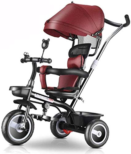 Pushchairs kindertrikes driewieler met drukknoppen driewieler met mand kinderen met verstelbare stoel met luifel verstelbare hoogte duwen rit driewieler baby producten