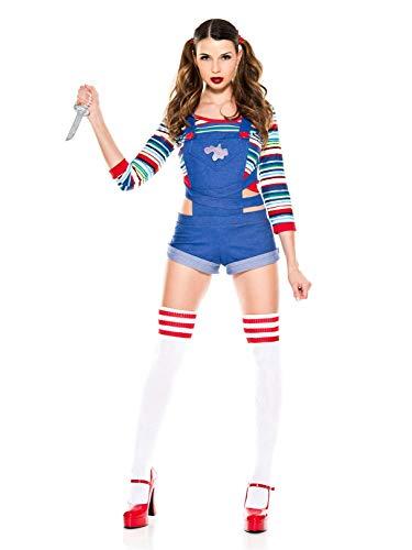 Music Legs - Womens Nightmare Killer Doll Costume