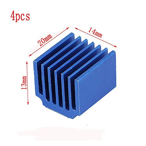 Durable LV8729 aluminium legering DRV8825 radiator 3D-printer onderdelen warmte wastafel koelblok, 4pcs 20x13x14mm, 123