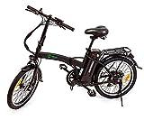 Youin Amsterdam BK1000 Negro Bicicleta eléctrica 250W Ruedas 16' con 40km de autonomía y 25km/h de Velocidad