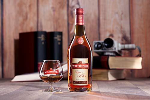 Wilthener Feiner Alter Weinbrand 36% vol., Brandy in V.S.O.P.-Qualität, in Limousin-Eichenholzfässern gelagert (1 x 0.7 l) - 3