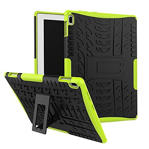 Mangas de la bolsa de la caja de la PC de la table Cubierta de la tableta para la pestaña Lenovo 4 10 pulgadas / TAB-X304F Textura de neumáticos TPU + PC Funda protectora con soporte de mango plegable