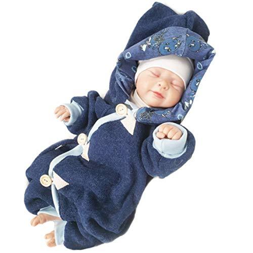 Atelier MiaMia - Walkoverall Baby Kind von 50-104 Designer Baby Overall Limitiert !! Blau (98)