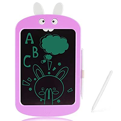 LODBY Kids Toys for 2-6 Year Old Girls Gifts, Rabbit LCD Drawing Tablet Easter Gifts for 2-5 Year Old Girls Birthday Gifts Age 3-5, Electronic Handwriting Drawing Board for Kids Girls Toys Age 2-6