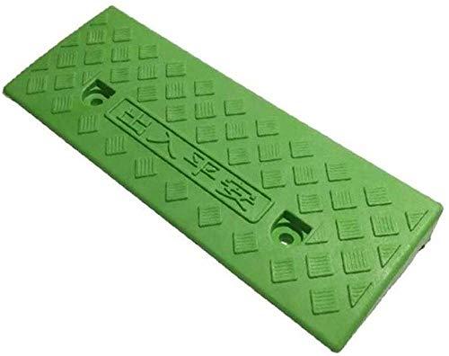 Groen/Zwart anti-slip mat, Plastic Draagbare Driehoek Pad Fiets Rolstoel Drempel Ramps Kleine Duurzame Stap Pad (Kleur : Zwart, Maat : 50 * 22 * 5CM) Groen
