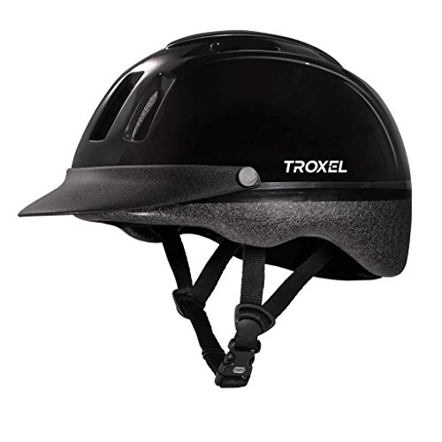 Troxel Sport Schooling Riding Safety Helmet SEI CERTIFICATION All Sizes and Colors (Black, Medium)