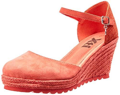 XTI 48941, Sandalias con Plataforma para Mujer, Azul (Coral Coral), 38 EU