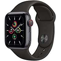 Apple Watch SE GPS & Cellular 40mm Space Gray Aluminum Case with Black Sport Band
