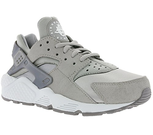 Nike Damen W Air Huarache Run PRM Suede Turnschuhe, Grau (Medium Grey/Off White), 36 1/2 EU