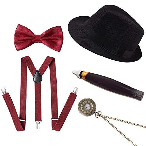 Conjunto Accesorios Disfraz gángster Masculino Gatsby
