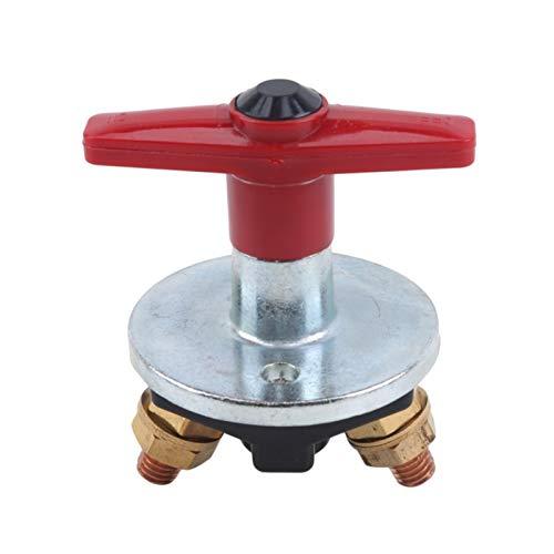 Rumors Interruptor de batería del automóvil Interruptor de Corte Giratorio Giratorio de Corriente Grande (Color : Red)