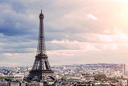 Rompecabezas Puzzle 1000 Piezas 75 * 50 Cm / 29,5 * 19,6 Pulgadas Torre Eiffel Al Anochecer Juguetes Educativos Puzzles Rompecabezas Madera Los Para Hijos Adultos Regalo Festiva