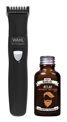Wahl Beard Trimmer Men and Beard Oil Gift Set, Hair Trimmers for Men, Stubble Trimmer, Male Grooming Set, Gifts for Men