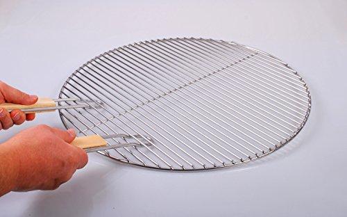 Chromé grille ronde diamètre 70 cm avec chaîne grille