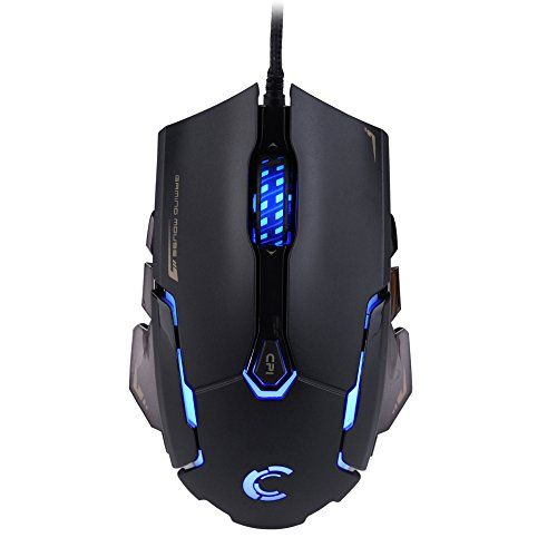 Gaming Mouse AVAGO Sensor, USB Wired Mice LED Rainbow Breathing Color 6 Buttons for Pro Gamers with Micro Switch(DPI 500/1500/2000/3500)