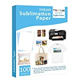 Sublimation Paper 100 Sheets 13' x 19' for Any Epson Sawgrass Inkjet Printer with Sublimation Ink for T-shirt, Ceramic, Mouse Pad, Towel DIY Unique Gifts