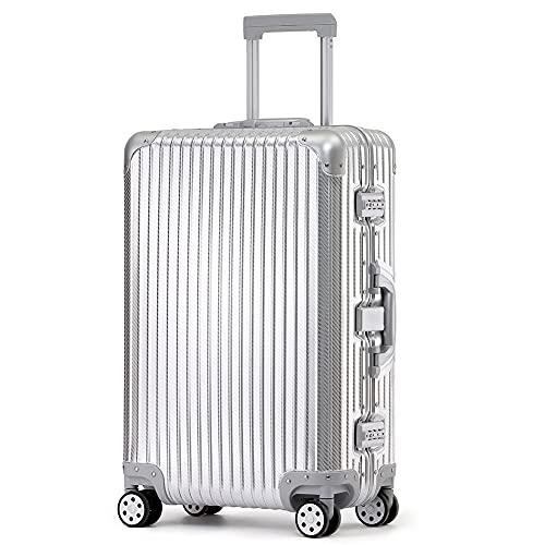 スーツケース キャリーケース 旅行用品 アルミ合金ボディ TSAロック搭載 海外旅行 出張 1 付き
