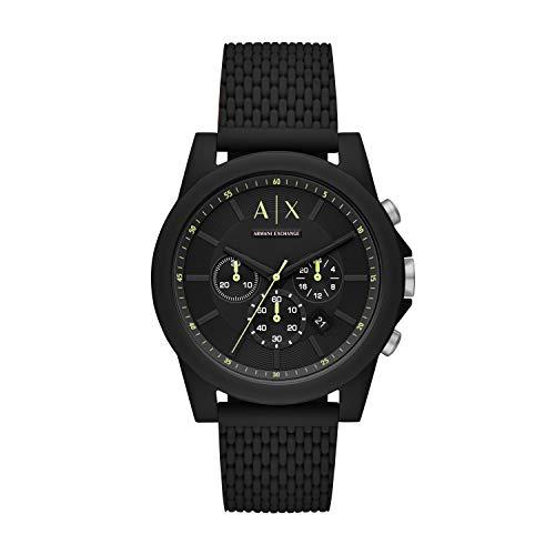 Armani Exchange Men's Analogue Quartz Watch with Silicone Strap AX1344