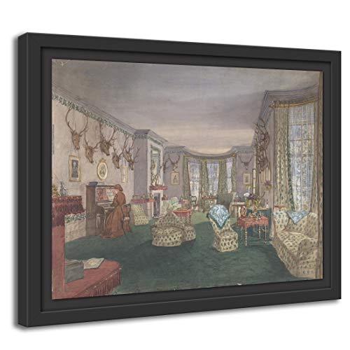 Printed Paintings Marco Americano (100x70cm): Anónimo, británico, Siglo XIX - Sala de...