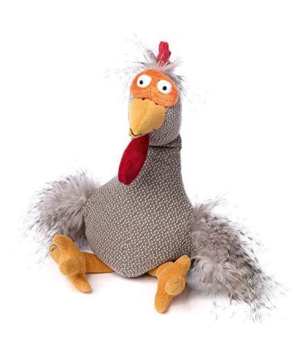 sigikid BEASTS, Kuscheltier für Erwachsene und Kinder, Hahn, Chicken Checker, Beasts Town, Mehrfarbig, 39081