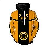 CHENMA Men Naruto 3D Print Pullover Hoodie Sweatshirt with Kangaroo Pocket (Color 7, M/US S)