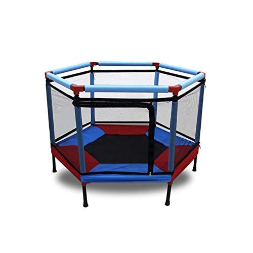 Niños Saltando Cama Redondo Mini Trampoline gabinete Red Pad Almohadilla Ejercicio al Aire Libre Home Toys Hop sofá Soporte 400 kg (Color : Blue)