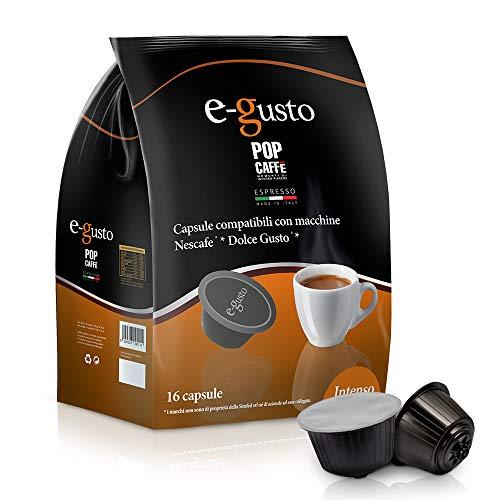 Nescafé Dolce Gustoto Compatible 160 capsules Pop Caffè E-Gusto M. 1 dosettes Intenso
