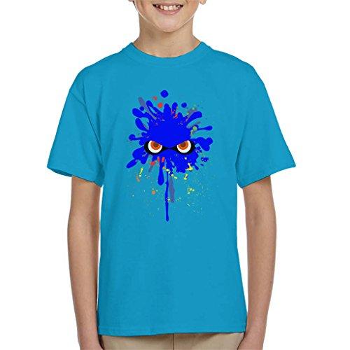 Splatoon Blue Ink Splat Kid's T-Shirt