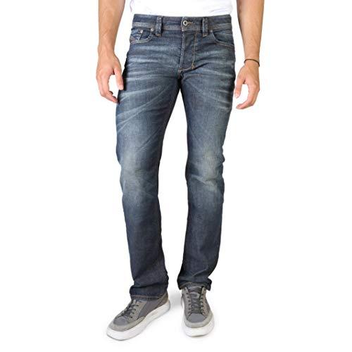 Diesel Larkee Pantaloni Jeans Dritti in Denim Blu Scuro con Taglio Dritto