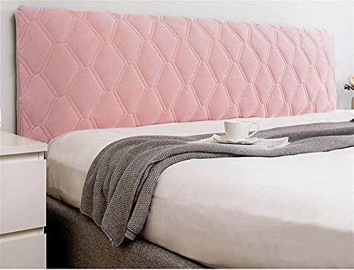 GZGLZDQ Funda De Cabecero De Cama Doble Funda Elástica Acolchada Protector De Cama Individual/King/Doble Algodón Elástico Grueso para Cama Doble (Color : Pink, Tamaño : 170x70cm)