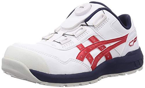 [アシックス] ワーキング 安全靴/作業靴 ウィンジョブ CP306 Boa JSAA A種先芯 耐滑ソール fuzeGEL搭載 ホワイト/クラシックレッド 27.5