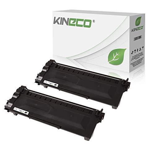 Kineco 2 Toner kompatibel für Brother TN-2320 TN-2310 für Brother HL-L2340DW, HL-L2360DN, MFC-L2700DW, DCPL2520DWG1, DCP-L2500D, HL-L2360DN - TN2320 TN2310 - je 5.200 Seiten