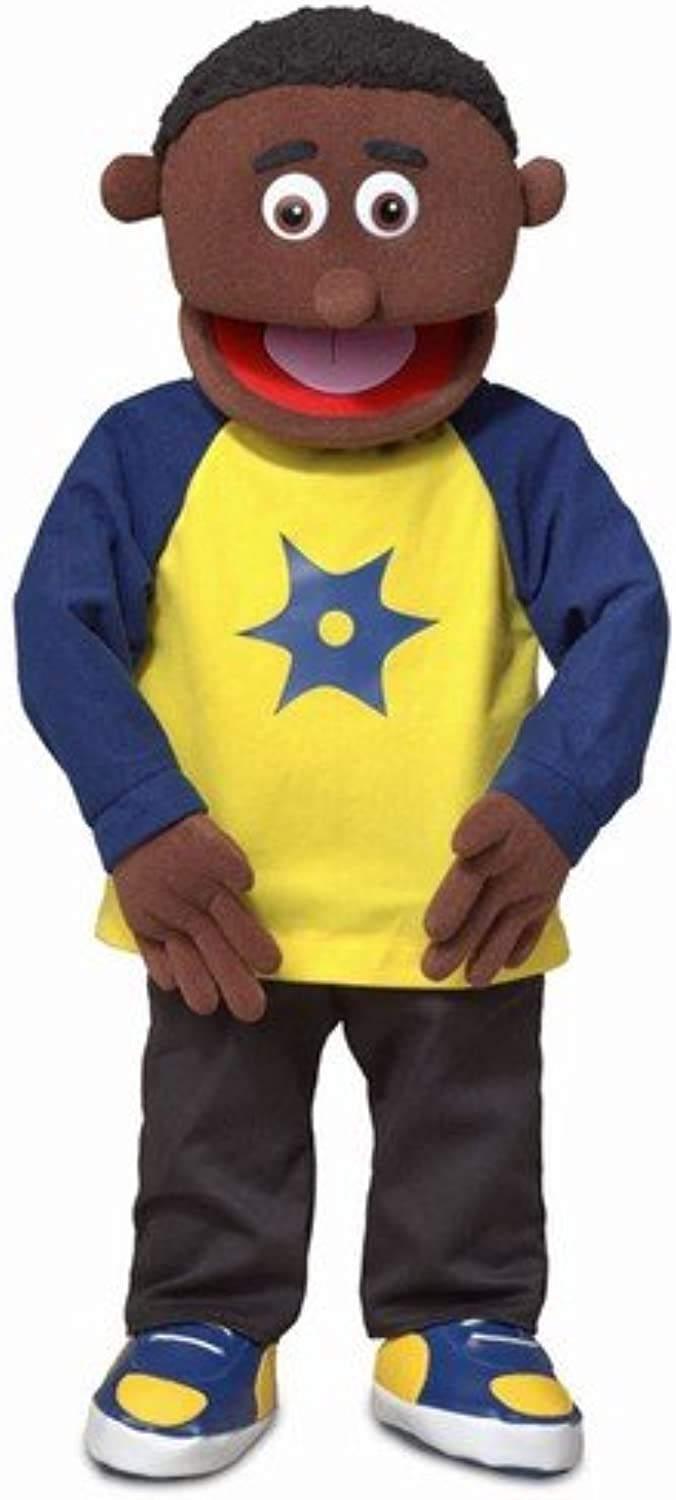 30  Jordan, Black Boy, Professional Performance Puppet with Removable Legs, Full or Half Body