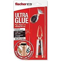 Fischer 548829 Adhesivo, con, luz, universal, Transparente, 4 gr