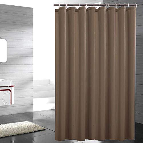 XXCZB Einfarbiger Duschvorhang Aus 100prozent Polyester, Blei-Streifen 180 X 200 cm, Dunkelbraun Duschvorhang Antischimmel Anti-Bakteriell Wasserdichter Vorhang