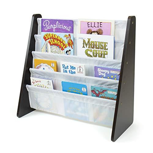 Humble Crew, Espresso/White Kids Book Rack Storage Bookshelf, ...